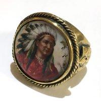 REPOP MFG イメージリング・インディアンチーフ BRASS (IMAGE RING#2)AR RING#2)