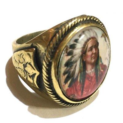 画像2: REPOP MFG イメージリング・インディアンチーフ BRASS (IMAGE RING#2)AR RING#2)