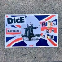 DicE MAGAZINE(ダイスマガジン)Bikes Cars Girls Poster(バイカーズカーズ・ガールズ・ポスター)