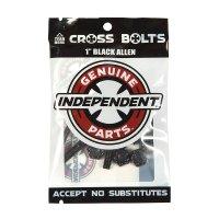 """INDEPENDENT TRUCK(インディペンデント ・トラック)クロスボルツ 1"""" (25.4mm)ブラック"""