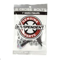 """INDEPENDENT TRUCK(インディペンデント ・トラック)クロスボルツ 1"""" (25.4mm)シルバー"""