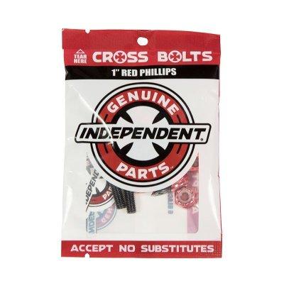 """画像1: INDEPENDENT TRUCK(インディペンデント ・トラック)クロスボルツ 1"""" (25.4mm)レッド"""