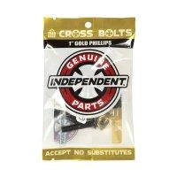 """INDEPENDENT TRUCK(インディペンデント ・トラック)クロスボルツ 1"""" (25.4mm)ゴールド"""
