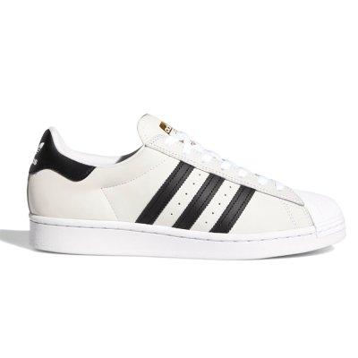 画像1: adidas Skateboarding(アディダススケートボーディング) SUPER STAR 50 WHITE/BLACK (SUEDE)