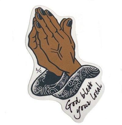 """画像1: LokalCore(ローカル・コア) Genuine Sticker """"God bless your Local"""" Design by doodle50"""