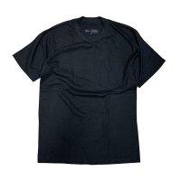 新品/現行品 UNION LINE ユニオンライン10331 S/S クルーネック・ポケットTシャツ MADE IN USA(ブラック)