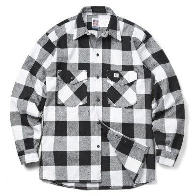 画像1: 現行・新品 BIG BILL121 L/S 9oz ヘビーウェイト ワークシャツ バッファローチェック MADE IN USA
