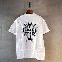 DOG TOWN(ドッグタウン)CROSS LOGO T-シャツ・ホワイト