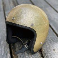 Vintage Helmet(ビンテージヘルメット)66s Grant GP-2 ジェットヘル・ゴールドフレーク L対応58cm相当【内装リペア済み】