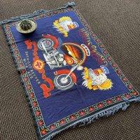 80s Harley-Davidson Vintage Tapestry/Blanket.